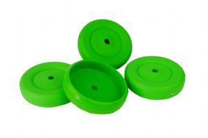 Proops 4 x 37mm dia 4mm Bore Wheels GREEN. Toy Car. S7344